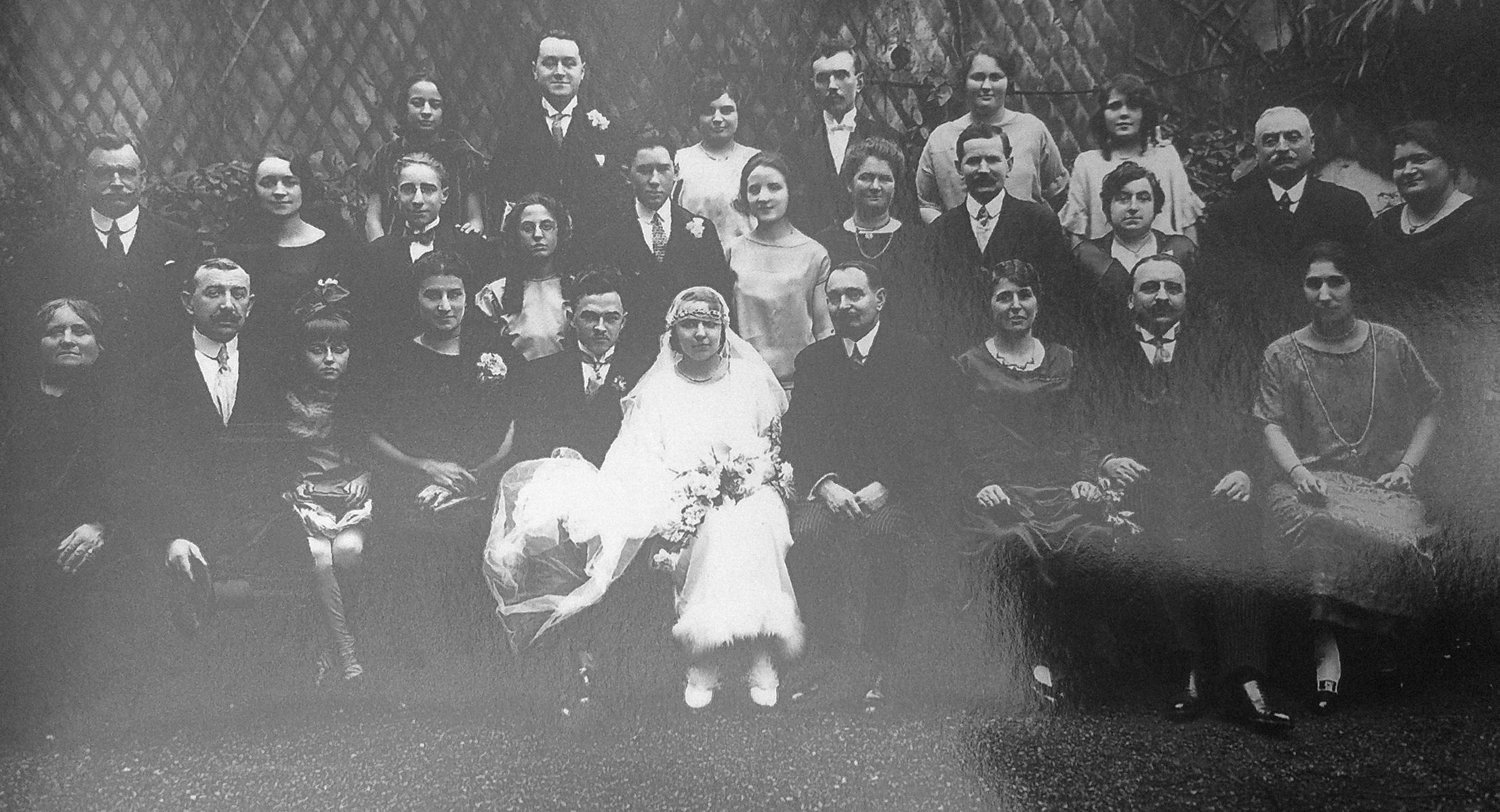 Mariage de mes grands parents René Lenoir et Jeanne Pivet en 1925