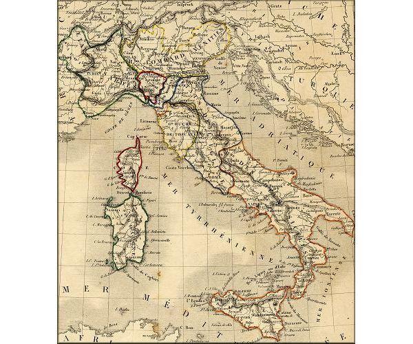 Carte Italie Ancienne.Royaume D Italie Italia Italy L Europe De La Poste