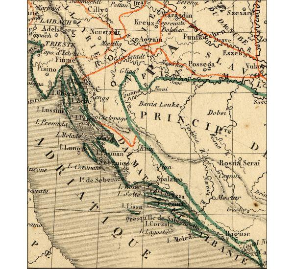 Carte Ancienne Croatie.Histoire De La Croatie Hrvatska Hrvat Croatia L