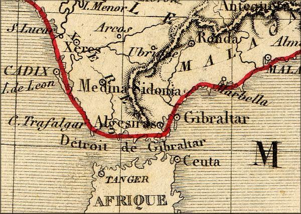histoire de Gibraltar (Royaume Uni   Espagne) vers 1860   l'Europe