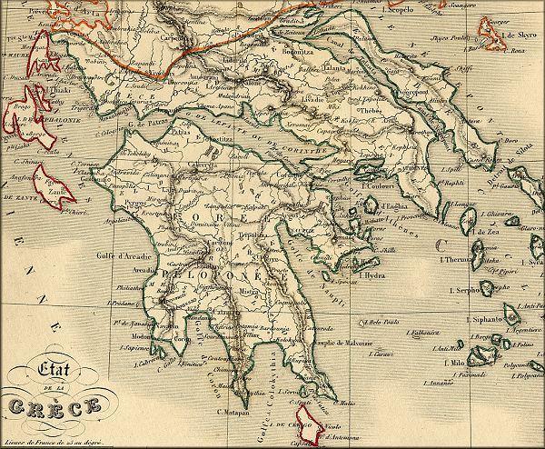histoire de la Grece / Hellas / Greece   l'Europe de la Poste vers