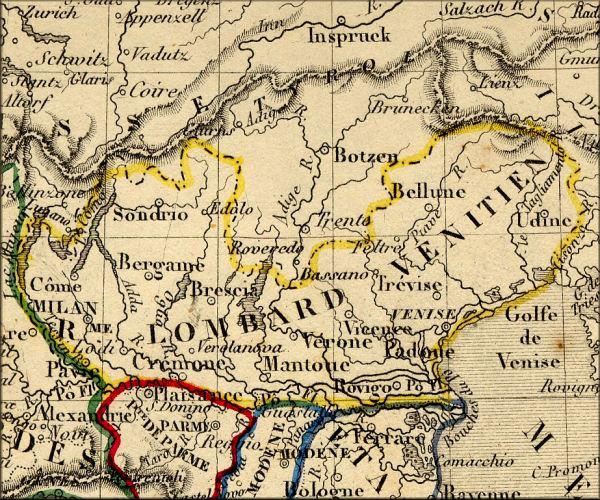 italie lombardie carte