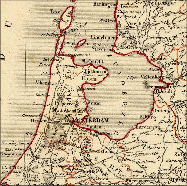Carte Europe Pays Bas.Histoire Des Pays Bas Nederland Hollande Vers 1860 L Europe De