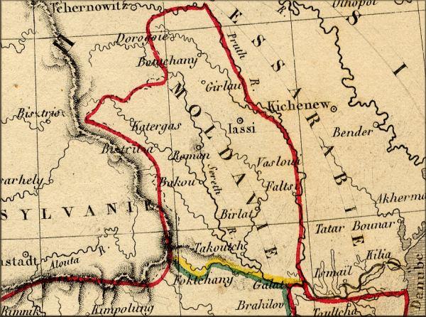 Carte Roumanie Moldavie.Histoire De La Principaute De Moldavie Moldova Roumanie