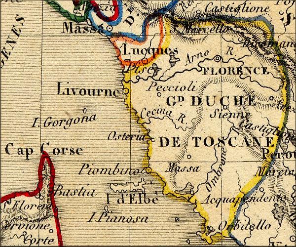 Bien-aimé histoire de la Toscane / Toscana et de Florence / Firenze (Italie  IV18
